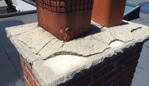 Cracked plaster around chimney