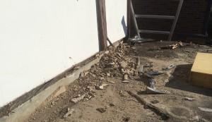 Roof stripping in progress!