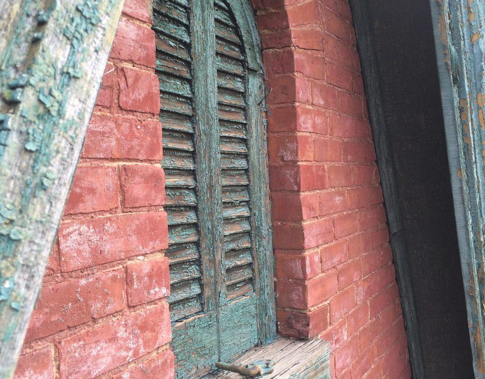 Cabbagetown townhouse window detailing